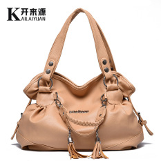 Discount Middle Aged Mom Bag 2017 Autumn New Style Large Capacity Tassel Handbags Fashion Shoulder Messenger Handbag Large Bag Casual Color China