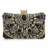 Price Comparison For Milisente New Women Luxury Evening Handbag Wedding Clutch Purse Sisters Party Bag Diamonds Silver Gold Black S194 Intl