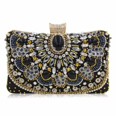 Buy Milisente New Women Luxury Evening Handbag Wedding Clutch Purse Sisters Party Bag Diamonds Silver Gold Black S194 Intl Oem Cheap