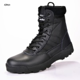 Military Leather Boots For Men Combat Bot Infantry Tactical Boots Askeri Bot Army Bots Army Shoes Black Intl Deal