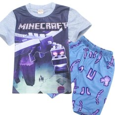 Coupon Minecraft Boys 115 155Cm Body Height 2 Pieces Cotton Pant T Shirts Color Main Pic Intl