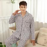 Discount Men S Pure Cotton Pajamas Blue Brown 22 33 Blue 22 33 Blue China