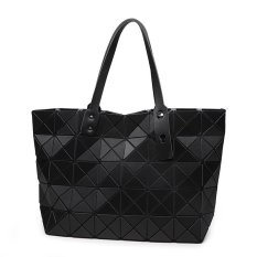 Miyake Fashion Handbags Shoulder Bag Lingge Matt Folded Cube Bag Black Lowest Price