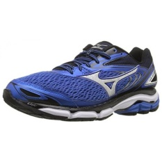 Mizuno Mens Wave Inspire 13 Running Shoe, Strong Blue/Silver, 10.5 D US