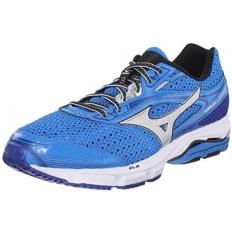 Mizuno Mens Wave Legend 3 Running Shoe Electric Blue Lemonade Silver 115 D US