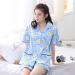 Mm Cartoon Cotton Women Short Sleeved Shorts Tracksuit Pajamas Light Blue Coupon