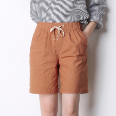 Mm Cotton Linen Women Plus Sized Thin Linen Casual Shorts Pi Hong Oem Discount