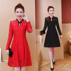Mm The New Day To Day Long Sleeve Cheongsam Black Black Shop