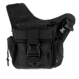 Molle Tactical Shoulder Strap Bag Pouch Travel Backpack Camera Military Bag Black Lower Price