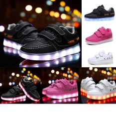 Get Cheap Moonar Fashion Children Boys Girls Led Flash Light Shoes Usb Charging Luminous Sneakers Size26 36 Black Intl