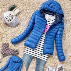 Price Moonar Fashion Women Winter Zipper Hooded Warm Jacket Long Sleeve Thin Down Coat Blue Intl Moonar Online