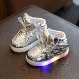 Buy Cheap Moonar Hot Led Kids Boys Girls Shoes Light Up Luminous Wings Children Trainers Sport Sneakers Silver Intl