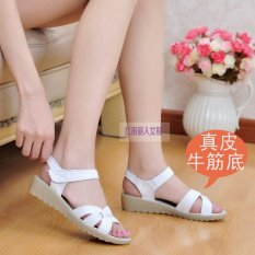 Low Price Non Slip Flat 33 Yards Leather Soft Bottom Nurse Shoes Sandals