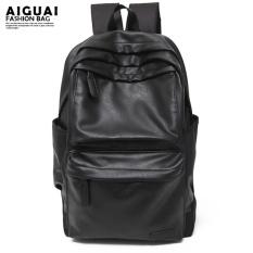 Discount Mu Casual Mens Shoulder Bag Mens Backpack Korean Version Of Studentbag Leather Fashion Trend Sports Travel Computer Bag Tide Multipocket Black Rectangle Back Breathable Mesh Large Special Intl Oem