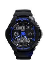 Get Cheap Multi Function Military S Shock Sports Watch Led Analog Digital Waterproof Alarm Blue