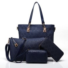 Sale Multi Functional Female Package Hand Reclining The Bag Big And Small Women Bag Fashion Classic New Female Package Handbags Fashion Casual Shoulder Oblique Cross Handbag Four Packs Of Mother Packs Blue Intl Oem Original