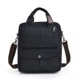 Compare Price Men S Man Bag Multi Purpose Vertical Section Canvas Black Manjianghong On China
