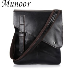 Top Rated Munoor 100 Genuine Cow Leather Messenger Bags Business Bags Men Laptop Travel Holder Intl