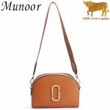Top Rated Munoor High Quality 100 Genuine Cow Leather Women Shoulder Bags Cross Body Beg Kulit Tulen Tas Kulit Asli Tui Da Chinh Hang กระเป๋าหนังแท้ Intl