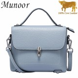 Sale Munoor High Quality 100 Genuine Cow Leather Women Shoulder Bags Cross Body Beg Kulit Tulen Tas Kulit Asli Tui Da Chinh Hang กระเป๋าหนังแท้ Intl Munoor On China