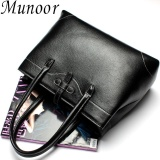 Retail Munoor High Quality 100 Genuine Leather Women Tote Bags Beg Kulit Tulen