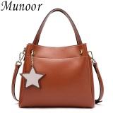 Buy Munoor High Quality 100 Genuine Leather Women Tote Top Handle Bags Beg Kulit Tulen Tas Kulit Asli Tui Da Chinh Hang กระเป๋าหนังแท้ Brown Intl Munoor Original