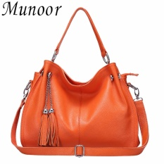 Who Sells Munoor High Quality Genuine Cow Leather Women Tote Bags Shoulder Holder Beg Wanita Tas Wanita กระเป๋าผู้หญิง Intl The Cheapest