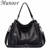 Buy Munoor High Quality Genuine Cow Leather Women Tote Bags Shoulder Travel Holder Intl Cheap China