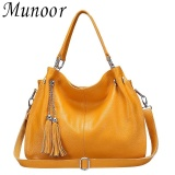 Wholesale Munoor High Quality Genuine Cow Leather Women Tote Bags Shoulder Travel Holder Intl