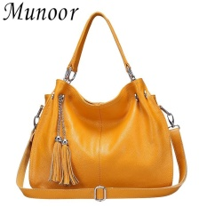 Cheaper Munoor High Quality Genuine Cow Leather Women Tote Bags Shoulder Travel Holder Intl