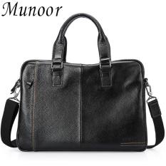 Compare Price Munoor High Quality Genuine Leather Men Shoulder Bags Messenger Begs Kulit Asli Tas หนังแท้ กระเป๋าผู้ชาย Tui Người Đan Ong Intl Munoor On China