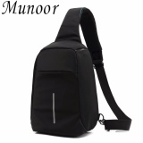 Munoor High Quality Korean Style Premium Shoulder Bag Oxford Cloth Anti Theft Shoulder Travel Holder Black Intl Cheap