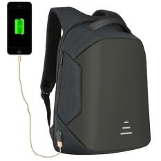 Cheap Munoor High Quality Men Anti Theft Waterproof Backpack 15 6 Inch Laptop Travel Holder Usb Charger Kualitas Tinggi Chất Lượng Cao คุณภาพสูง Black Intl