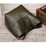 Brand New Munoor Italian 100 Genuine Cow Leather Women Tote Bags Fashionable Handbags Shoulder Bag For Travel Deep Green Intl