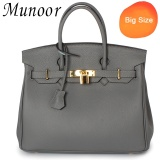 Coupon Munoor Women Top Handle Bags Italian 100 Genuine Cow Leather Shoulder Bags Crossbody Travel Holder Big Size Intl