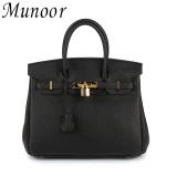 Cheapest Munoor Women Top Handle Bags Italian 100 Genuine Cow Leather Shoulder Bags Crossbody Travel Holder Medium Size Intl