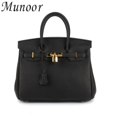 Munoor Women Top Handle Bags Italian 100 Genuine Cow Leather Shoulder Bags Crossbody Travel Holder Medium Size Intl Shopping