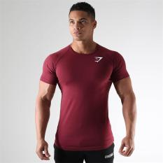 Purchase Sports Muscle Running Fitness Slim Fit Training Clothes Red Wine Red Wine Online
