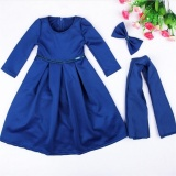 Sale Muslim Girls Abaya Dress Scarf Islamic Kids Lace Kaftan Hijab Arab Childer Robe T338 Color Blue Intl Not Specified On China