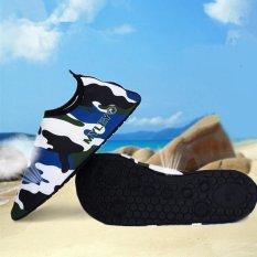 MYLEYO Nonslip Diving Socks Skin Shoes Water Sport Yoga Exercise Beach Swimming Blue 2XL - intl