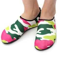 MYLEYO Nonslip Diving Socks Skin Shoes Water Sport Yoga Exercise Beach Swimming Rose 3XL - intl