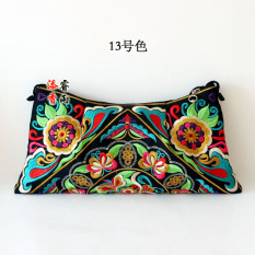 Cheaper Ethnic Double Sided Embroidery Vintage Shoulder Bag Nv Shi Bao 13 No Color 13 No Color