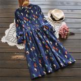 Price Comparisons For National Style Wick Velvet Printed Long Sleeved Mid Length Dress Shirt Dress