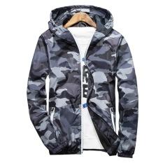 New 2017 Autumn Hooded Jacket Men Thin Military Jacket Fluorescent Zipper Features Windbreakers Blue Jacket Plus Size 4Xl 5Xl Gray Intl Discount Code
