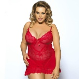 Best Price New Arrival 2017Sexy Lingerie Hot Ladies Lace Plus Size Babydoll Five Colors Beautiful Night Wear *r*t*c Lingerie Intl