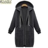 New Arrival Zanzea Winter Coats Jacket Women Long Hooded Sweatshirts Coat Casual Zipper Outerwear Hoodies Plus Size Dark Grey Intl Reviews