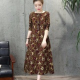 Compare Price New Autumn Women S Maxi Long Dress Plus Size Loose Long Sleeve A Line Dress Intl On China