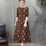 Review New Autumn Women S Maxi Long Dress Plus Size Loose Long Sleeve A Line Dress Intl China