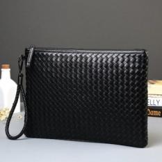 Buying New Best New Korean Men Fashion Knittin Men Bag Women Messenger Clutch A4File Packet Intl