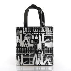 Discount Pvc Black And White New Style City Waterproof Shopping Bag Trumpet Trumpet Oem On China